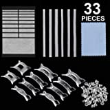 33 Pieces Ring Size Adjusters Invisible Ring Size Reducer for Any Size Loose Ring, Ring Adjuster with Jewelry Polishing Cloth, 3 Styles (Color: Set 1, Tamaño: 33 Pieces)