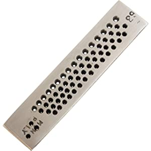 63 Round Hole Drawplate Jewelers Wire Draw Plate Tool