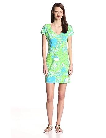 Lilly Pulitzer Women's Daniella Printed Dress, Limeade Roar of the
