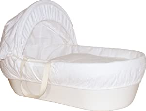 Shnuggle Cotton Waffle Hypoallergenic and Silent Moses Basket (Cream)       BabyCustomer review and more description