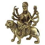 ShalinIndia Antique Goddess Durga Metal Brass Sculpture