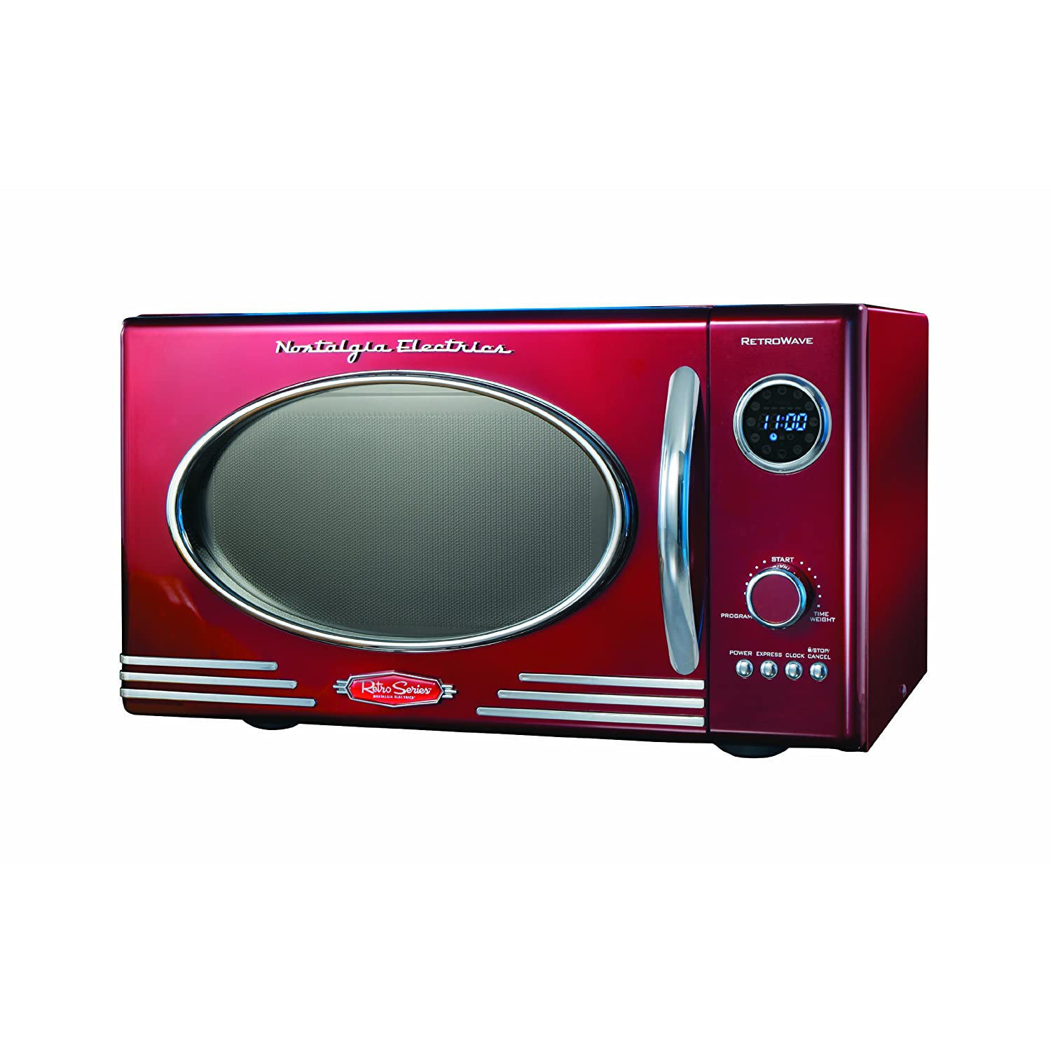 Nostalgia Electrics RMO-400RED Retro Series .9 CF Microwave Oven, Red