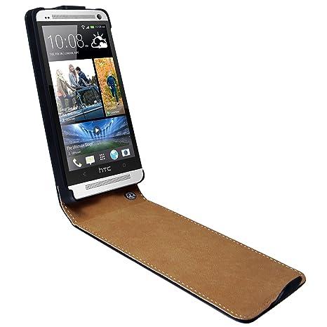 mumbi PREMIUM ECHT Leder Flip Case HTC One Tasche Hülle (NICHT HTC One X X+ S SV V etc.)