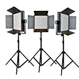 Godox Led1000 4400Lux Changeable Version Photography Photo Studio Video Led Lighting Kit with Remote Control,Filter,Power Cable(Yellow and white light)