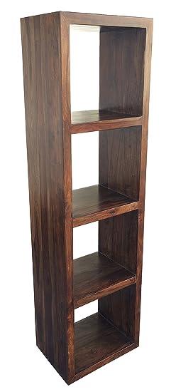 Mobile scaffale libreria a giorno in legno massello di palissandro 50x35x180H