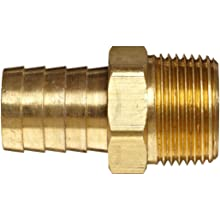 Anderson Metals Brass Compression Hose Fitting Connector, Barb x NPT Male
