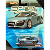 Hot Wheels Speed Machines Audi R8 LIGHT BLUE 1:64 Scale (Color: Blue, Tamaño: 1:64 Scale ~ 3