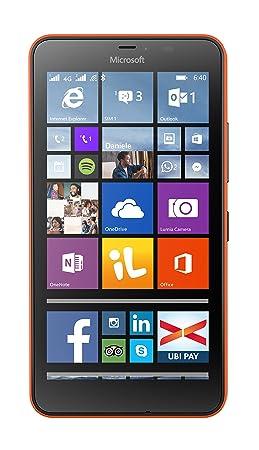 Microsoft Lumia 640XL Smartphone, Dual SIM, bleu [modèle italien]