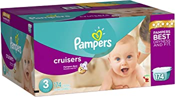 Pampers Cruisers Diapers Pack, 174 Count
