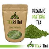 TEAki Hut Organic Matcha Green Tea Powder 2 Ounce (50 Servings) Culinary Grade | Excellent Weight Loss Benefits | More Antioxidants than Green Tea Bags | Best for Making Matcha Tea, Smoothies, Lattes