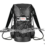 OUTXE 100% Waterproof Dry Bag Backpack 20L Totally Sealed PVC-Free (Color: 20L, Black)