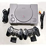 Sony PlayStation 1 SCPH-9001 Grey Console System PS1 2 Wireless Controllers (Renewed)
