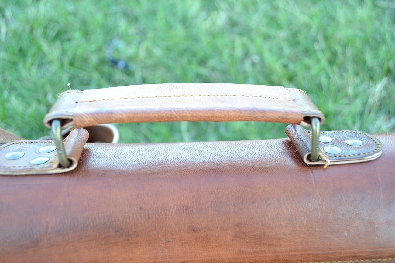PL 16 Inch Vintage Leather Messenger Bag Briefcase / Fits upto 15.6 Inch Laptop 5