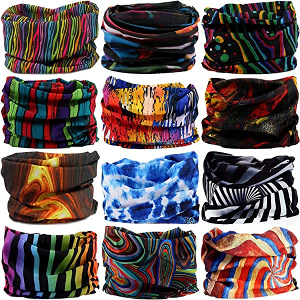 bb4321f7d9d Headwear Head Wrap Sport Headband Sweatband 220 Patterns 12 in 1 Magic Scarf  12PCS   6PCS ...