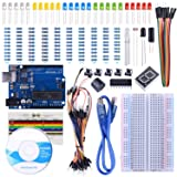 STARTO UNO Starter Kit for Arduino with Free Tutorials, UNO R3 Board, Breadboard, Sensor, USB Cable, Display, Resistors, Jumper Wires and Dupont Wires