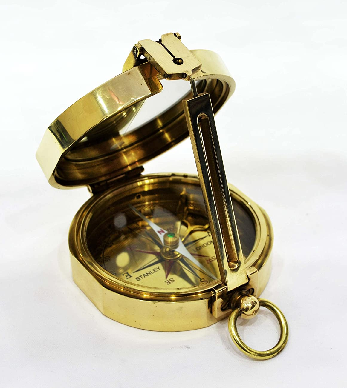 Beautiful Brass Gift Compass - Vintage Replica 0