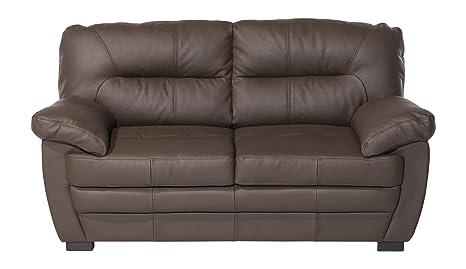 Cotta C424200 D218 Royale 2-er Sofa Lederimitat, braun, 160 x 90 x 86 cm
