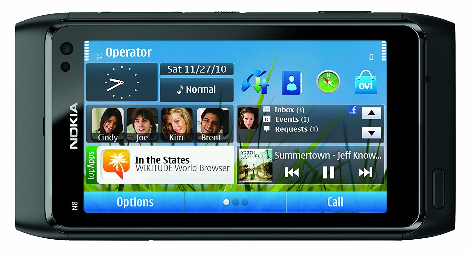 Amazon Com Nokia N8 Unlocked Gsm Touchscreen Phone Featuring Gps  -> Sala De Tv Jeff