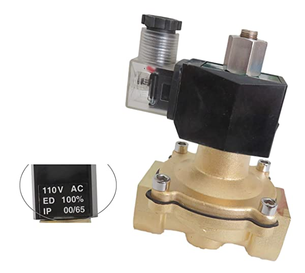 Baomain Brass Electric Solenoid Valve PT1//4 AC 110V 2-Way 2position work for Water Air Gas NO Normally Open Baomain Electric Co Ltd