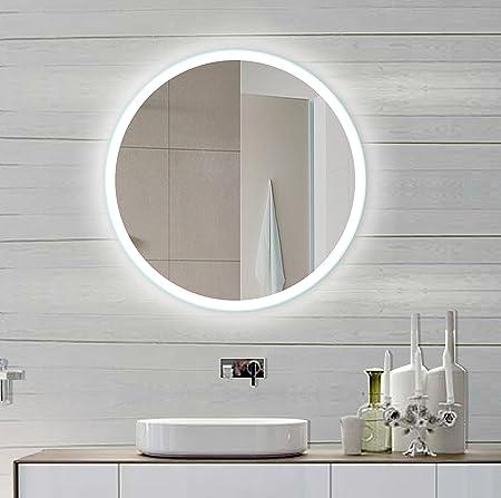 Backlit Bathroom Mirror Round 32 X 32 In