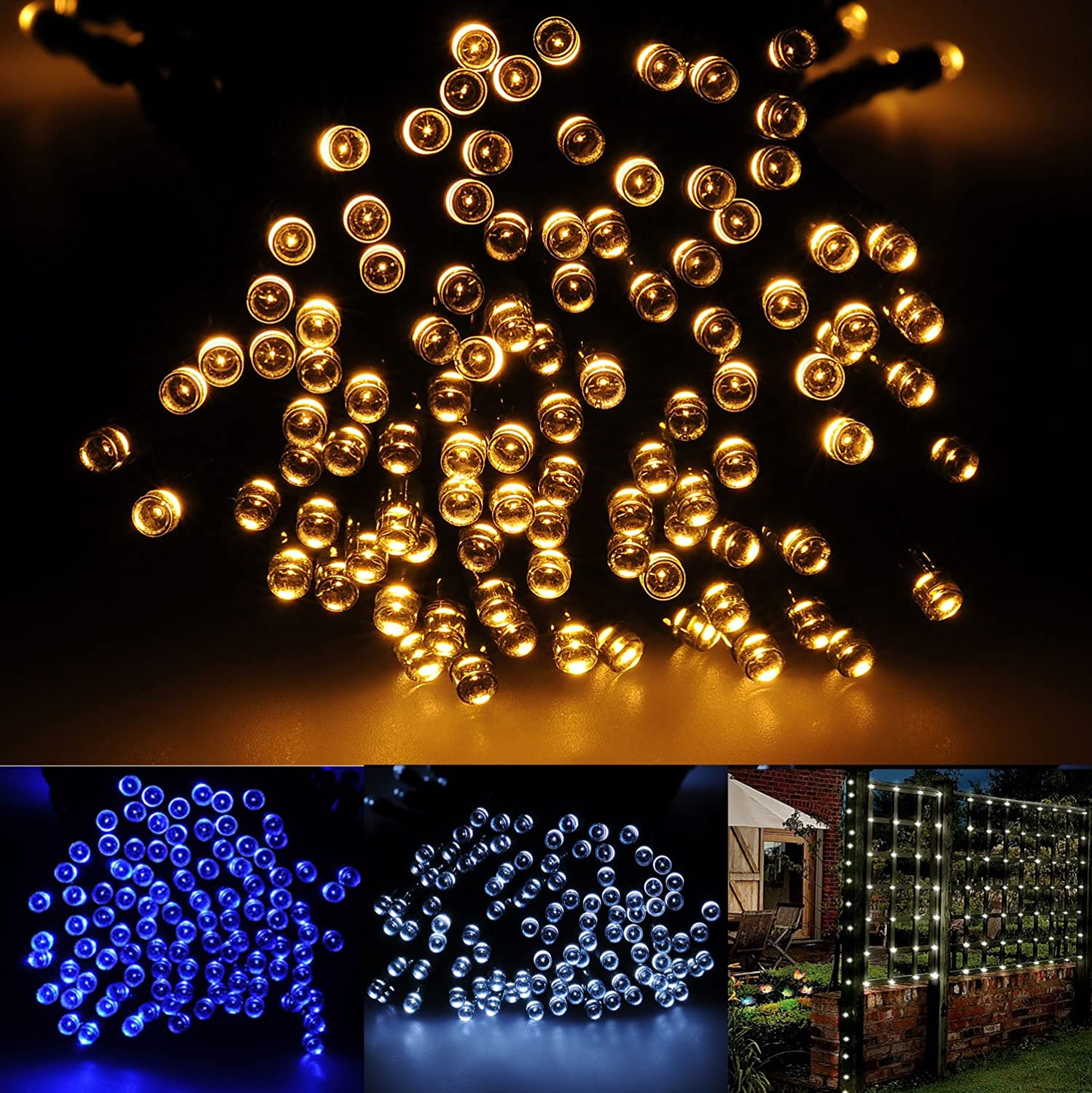 Brightown 72ft/22m 200 LED Solar Fairy String Lights for Outdoor, Gardens, Patio, Lawn, Porch, Gate, Yard, Trees, Homes, Christmas Party, Color Warm White, Guarantee for Three Month Replacement динамик широкополосный beyma 12ga50 1 шт