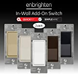 GE Enbrighten Add QuickFit and SimpleWire, in-Wall Paddle, Z-Wave Zigbee Wireless Smart Lighting Controls, NOT A STANDALONE Switch, 2-Pack 47896, White & Light Almond (Color: White & Light Almond)