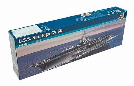 Italeri - I5520 - Maquette - Bateau - Porte-avion USS Saratoga - Echelle 1:720