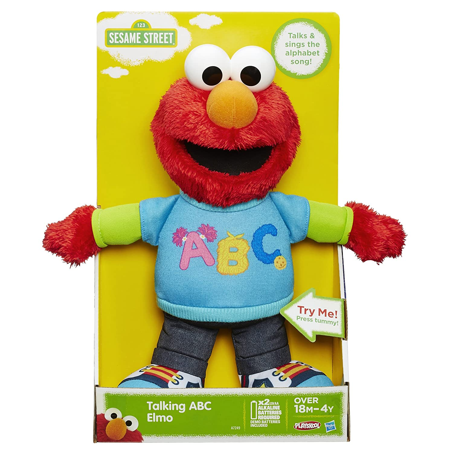 Sesame Street Talking ABC Elmo Figure , New, Free Shipping ...