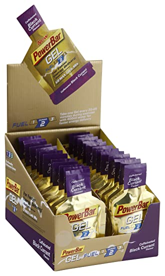 Powerbar Gel C2Max Trinkbeutel  Caffeinated Black Currant, 24 x 41 g, 1er Pack (1 x 960 g Packung)