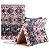 ProCase Samsung Galaxy Tab A 9.7 Case, Standing Cover Folio Case for 2015 Galaxy Tab A Tablet (9.7 Inch, SM-T550 P550), with Multiple Viewing angles, Document Card Pocket - Aztec2 (Color: z- Aztec2, Tamaño: Galaxy Tab A 9.7)
