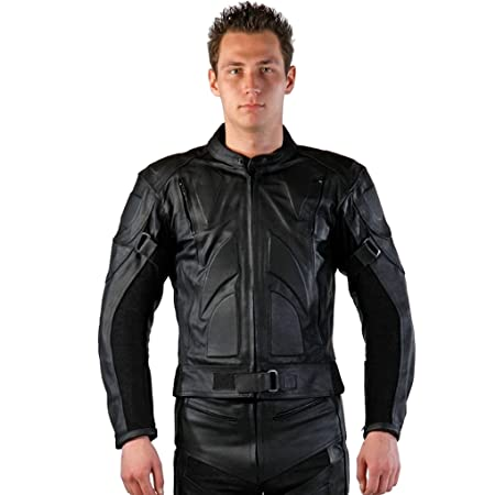 Lemoko veste de moto en cuir noir taille m-xXL