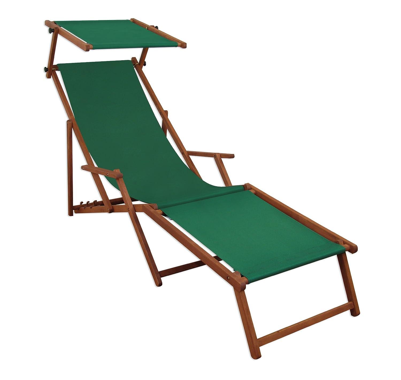 Sonnenliege Gartenliege Deckchair Saunaliege mit Dach + Fußteil günstig online kaufen