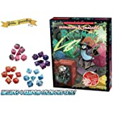 Dungeons and Dragons Vs. Rick & Morty (D&D Tabletop Roleplaying Game Adventure Boxed Set) with 4 Random Set of 7 Dice Bundle by Golden Groundhog!