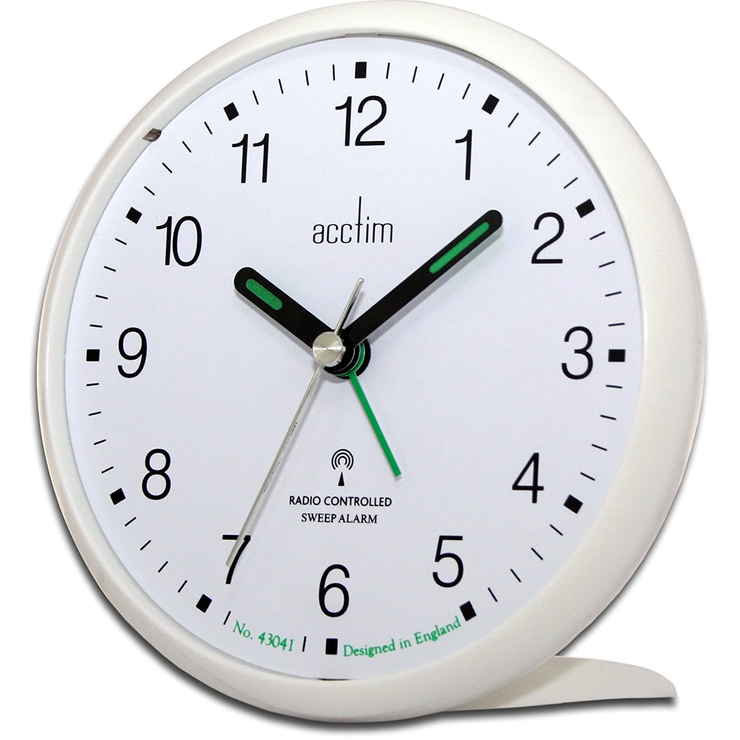acctim 71452 yale very bold alarm clock white msf signal radio controlled ebay. Black Bedroom Furniture Sets. Home Design Ideas