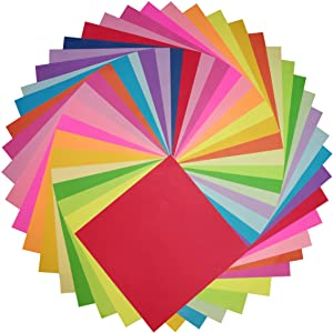 Origami Paper Double Sided Color 500 Sheets - 20 Colors with 6 Inch Square Size for Art Projects (Color: 500, Tamaño: 500)