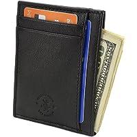 Hammer Anvil Leather RFID Safe Anti-Theft Minimalist Wallet (Multiple Colors)