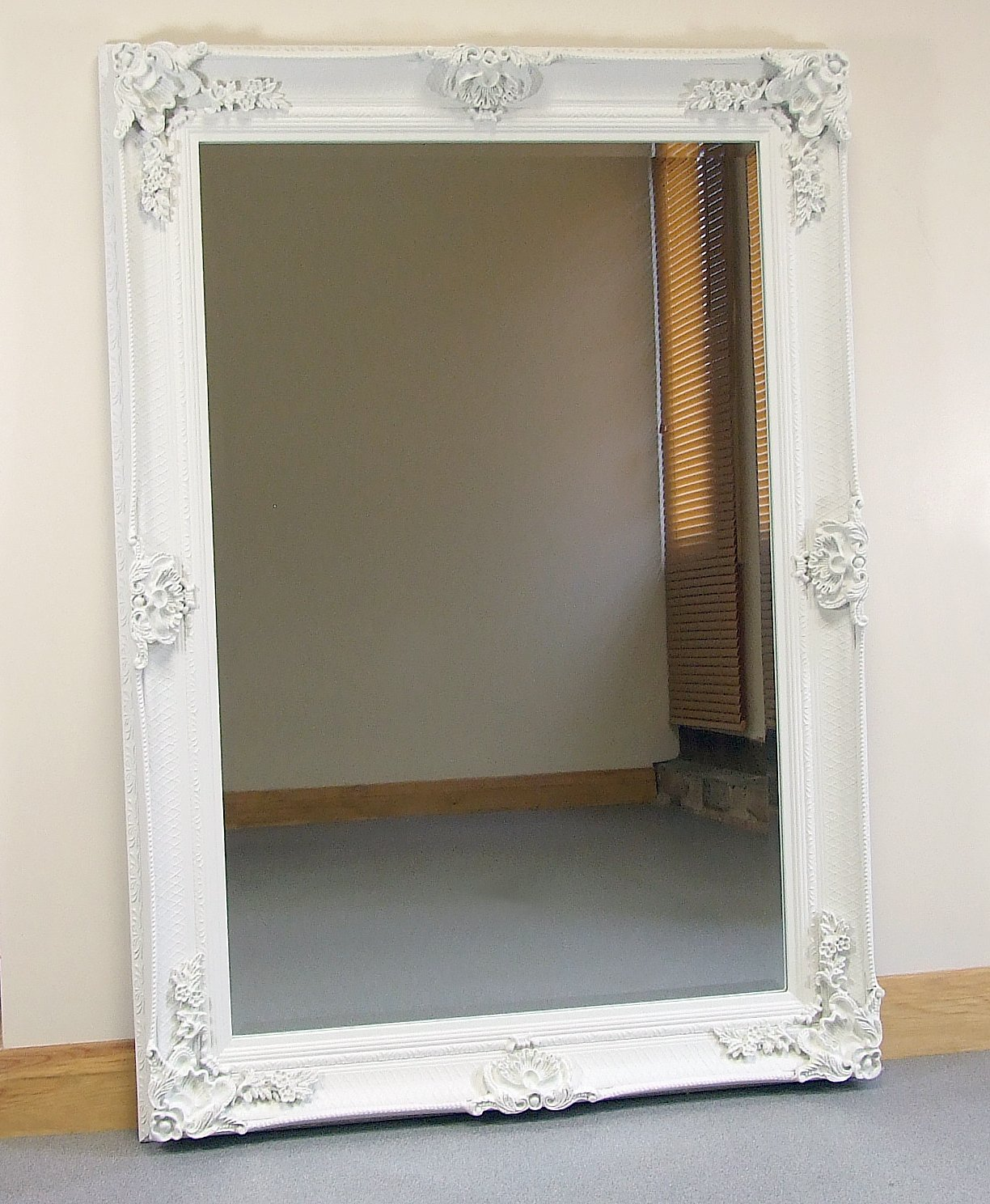Abbey Large Cream Shabby Chic Antique Style Wall/Over Mantle Mirror   43  x 31        Customer reviews and more info
