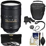 Nikon 28-300mm f/3.5-5.6 G VR AF-S ED Zoom-Nikkor Lens + Holster + 3 Filters Kit for D3200, D3300, D5300, D5500, D7100, D7200, D750, D810 Cameras (Color: Black)