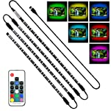 Achivy USB LED Lighting Strip - 4 x1.64ft/2M Multi-Color RGB 5050 DC5V LED TV Backlight Strip with RF Remote, Bias Lighting for HDTV, Flat Screen TV (Color: RGB (Red, Green, Blue), Tamaño: 4 x 1.64ft/2M)