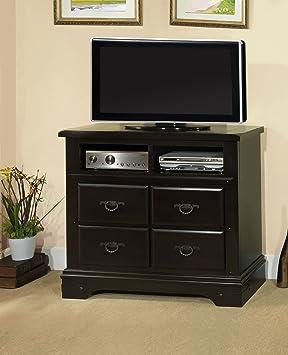 Furniture of America Elderendo TV Console Storage Drawer, Espresso Finish