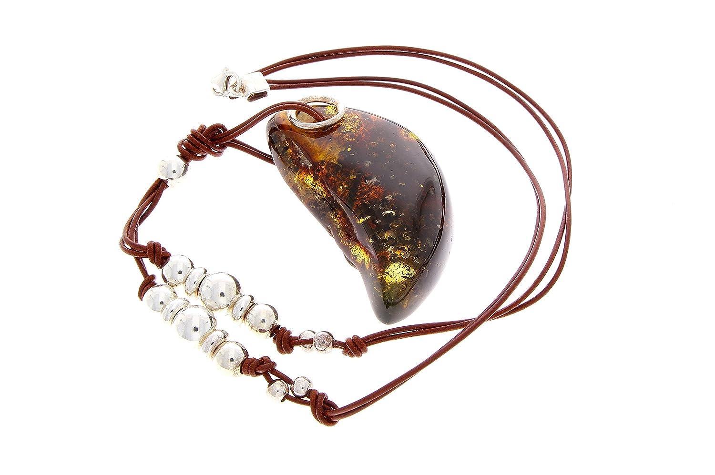 SilverAmber - Damen - Echte Baltischen Bernstein Halskette -NE0148