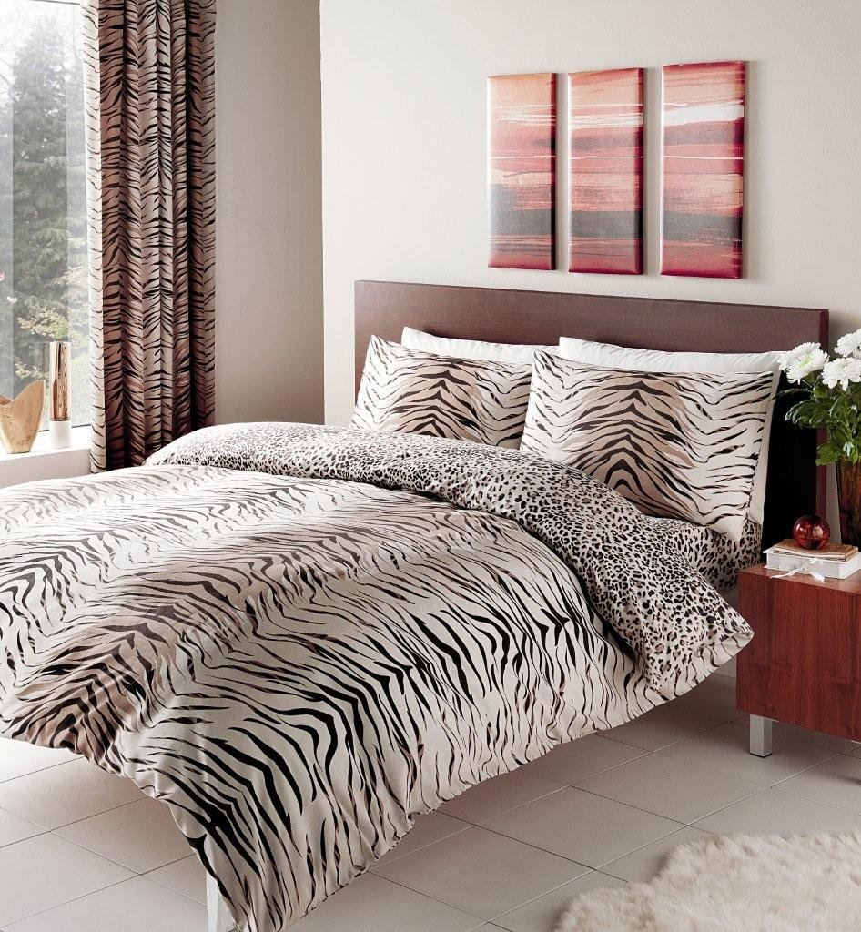 housse couette tigre. Black Bedroom Furniture Sets. Home Design Ideas