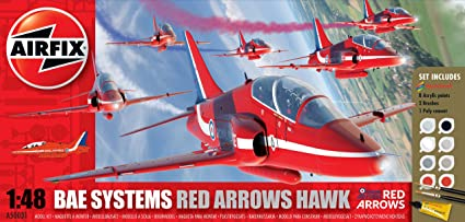 Airfix - A50031A - Maquette - Red Arrow Hawk - Boxed Gift Set