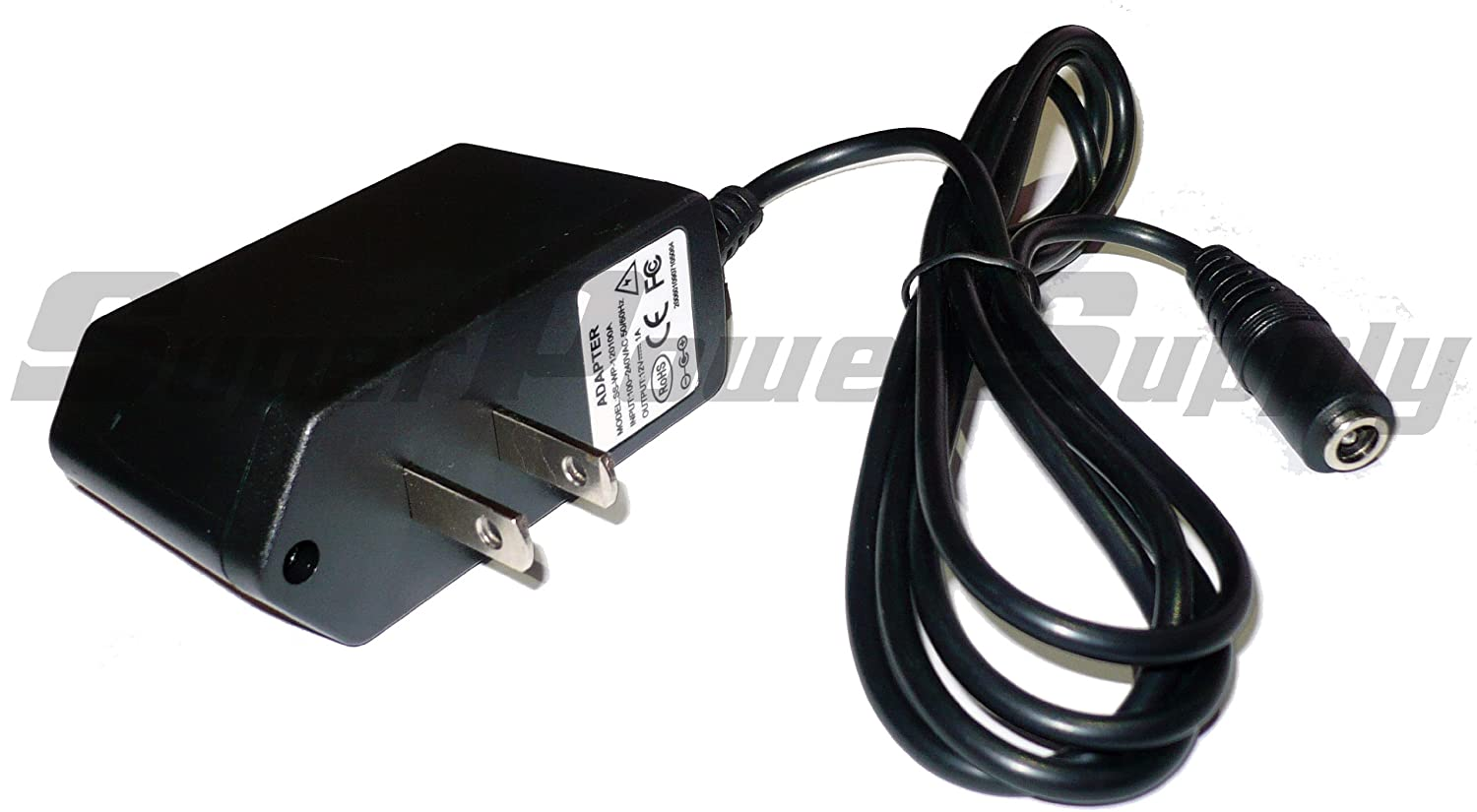 Super Power Supply AC/DC Adapter Charger Cord 12V 1A (1000mA) 5.5mm x 2.1mm Female / 5.5x2.1mm Receptacle Wall Plug at Sears.com