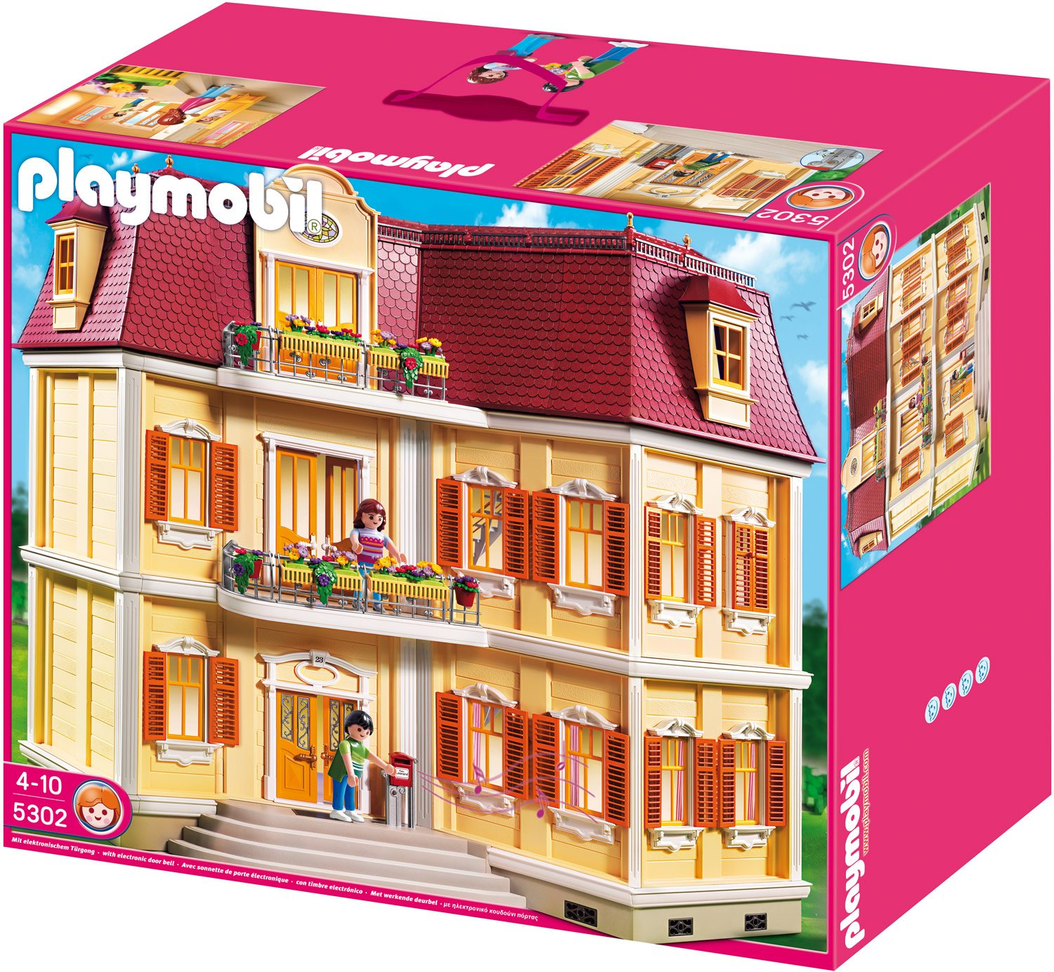 playmobil mein gro es puppenhaus 5302 preisvergleich. Black Bedroom Furniture Sets. Home Design Ideas