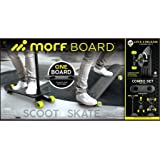 MORFBOARD Skate & Scoot Combo Set, Black/Black Color  [Amazon Exclusive]