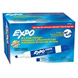 EXPO 80003 Low-Odor Dry Erase Markers, Chisel Tip, Blue, 12-Count (Color: Blue, Tamaño: 12-Count)