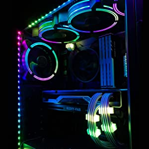 EZDIY-FAB Addressable RGB LED Strips with Magnet for PC