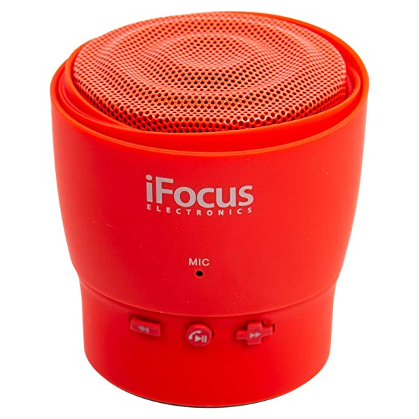 CTG, Mini Bluetooth Speakers, 3.5 x 3.5 inches, Red