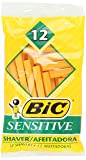 BIC Single Blade Shaver, Sensitive, 12-Count (Pack of 12)